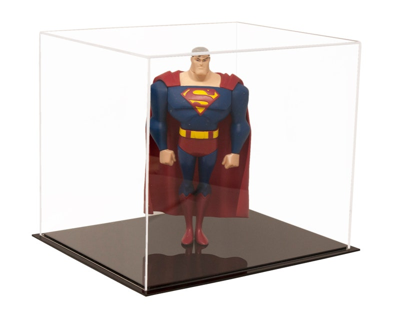 "Medium Square Box 9.75/"" x 9.75/"" x 9.75/"" Clear Acrylic Display Case A027-CDS"