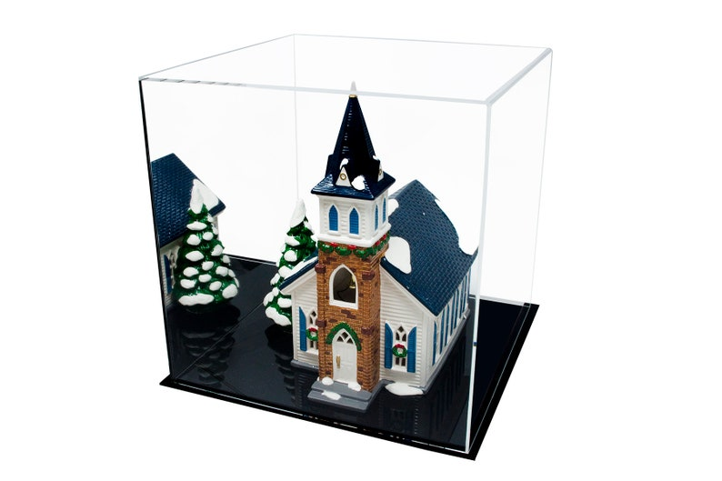 Cube Dust Cover or Riser 12 x 12 x 12 Versatile Acrylic Display Case A061-DS