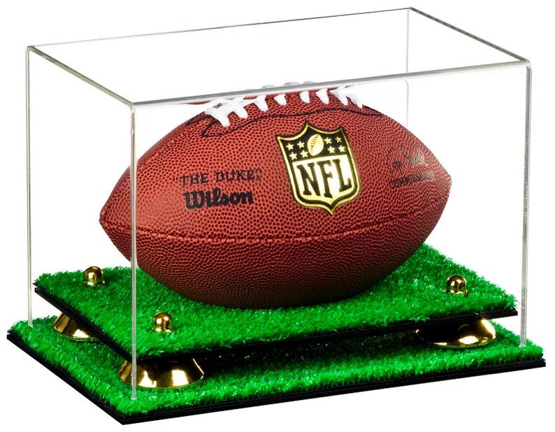 7a5b5f12dfa Deluxe Clear Acrylic Mini Miniature not Full Size Football