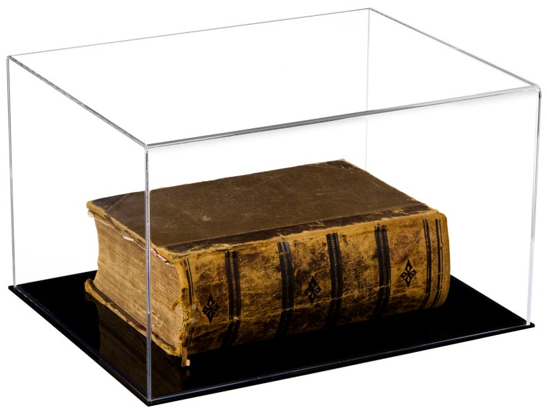 Deluxe Clear Acrylic Table Top Display Case for Collectable Book A084