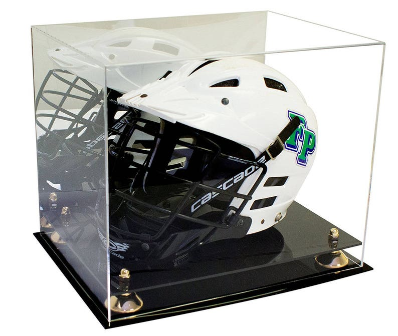 or Hat Acrylic Display Case with Mirror /& Silver Risers Baseball Cap A006-SR