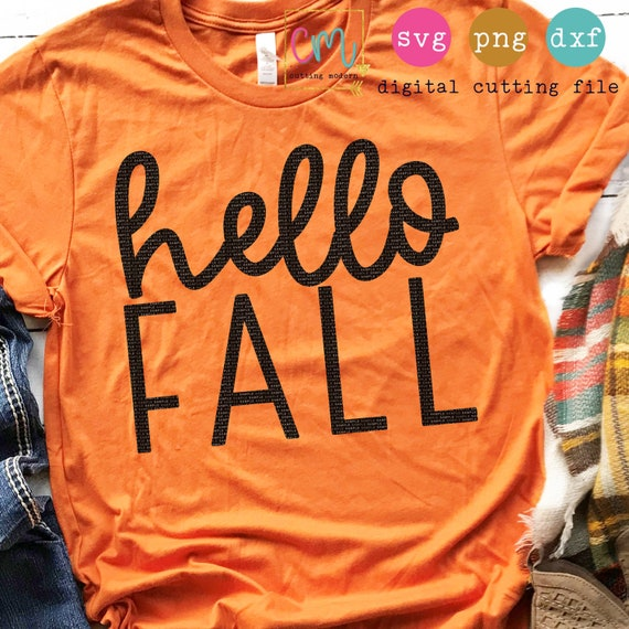Hello Fall Fall Svg Png Dxf Silhouette Cameo And Cricut Etsy