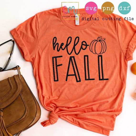 Hello Fall Svg Png Dxf Silhouette Cameo And Cricut Files Etsy