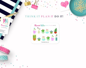 Plant Planner Stickers - Mini Personal Planner Stickers for Erin Condren, Happy Planner, Filofax, KikkiK and more!