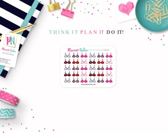 Bra Planner Stickers - Mini Personal Planner Stickers for Erin Condren, Happy Planner, Filofax, KikkiK and more!