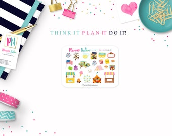 Summer Fun Planner Stickers - Mini Personal Planner Stickers for Erin Condren, Happy Planner, Filofax, KikkiK and more!