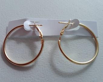2 hoop gold earrings for women