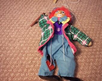Vintage European Clown Puppet