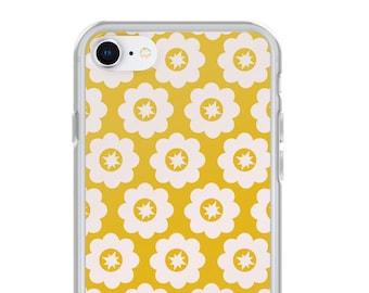Vintage Floral géométrique jaune pour iPhone
