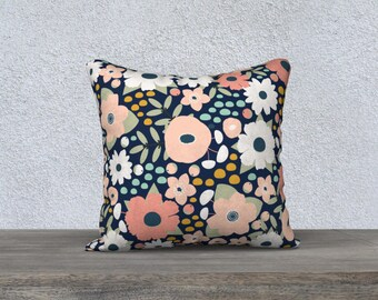 Vintage Floral Throw Cushion Case