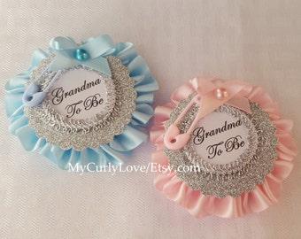 Girl Baby Shower Pin/Boy Baby Shower Pin/Grandma to be Pin/Daddy to be Pin/Auntie to be Pin/Girl Baby Shower Corsage/Boy Baby Shower Corsage