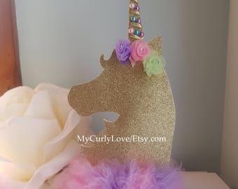 Unicorn Table CenterpieceUnicorn DecorUnicorn Birthday Baby Shower DecorationGirl Center