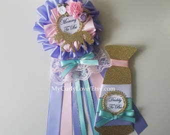 Unicorn Baby Shower Mommy to be Corsage/Unicorn Baby Shower Mommy to be Pin/Unicorn Baby Shower Mommy To Be/Girl Shower Mommy Pin/Mommy Pin