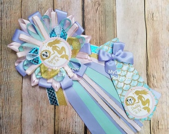 Aqua and silver mommy to be pin teal and silver baby shower aqua baby shower Aqua and white baby shower mommy to be pin-teal mommy pin