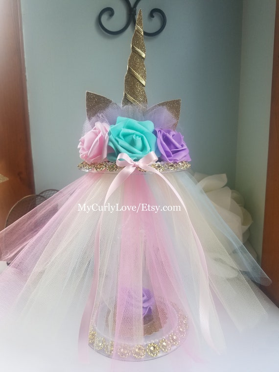 Unicorn Centerpiece Unicorn Baby Shower Unicorn Etsy
