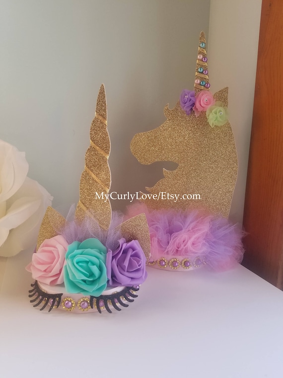 Unicorn Centerpiece Unicorn Birthday Unicorn Baby Shower Etsy