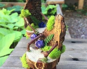fairy garden chairs, handmade fairy furniture