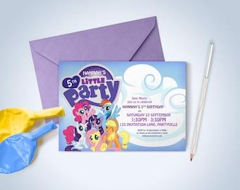 My Little Pony Printable Invitations - Pony Theme Party, My Little Pony Invites, My Little Pony Party
