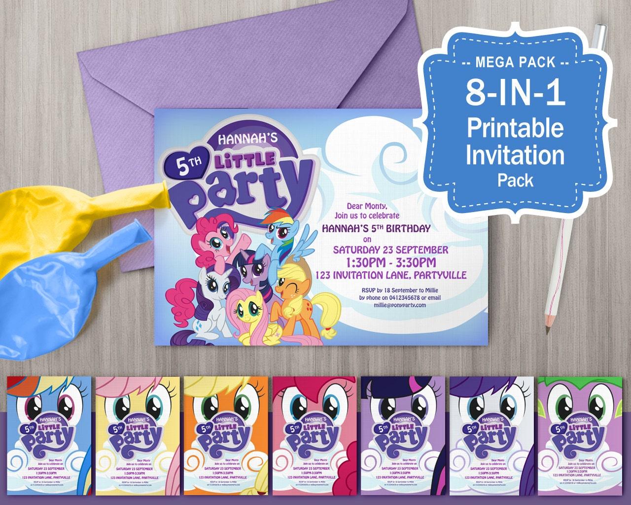 608f2f752fb8f Mi pequeño Pony invitaciones imprimible fiesta temática de