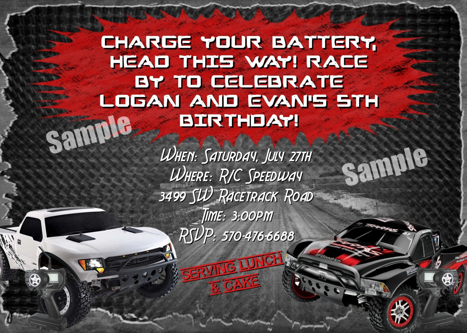 Funky Cars Birthday Invitations Photos - Invitations Design ...