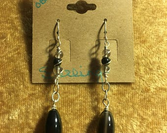 Ice Obsidian Earrings