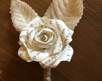 Harry Potter Paper Flower Boutonniere, Harry Potter corsage, corsage, boutonniere, Paper rose boutonniere, buttonhole, Harry Potter