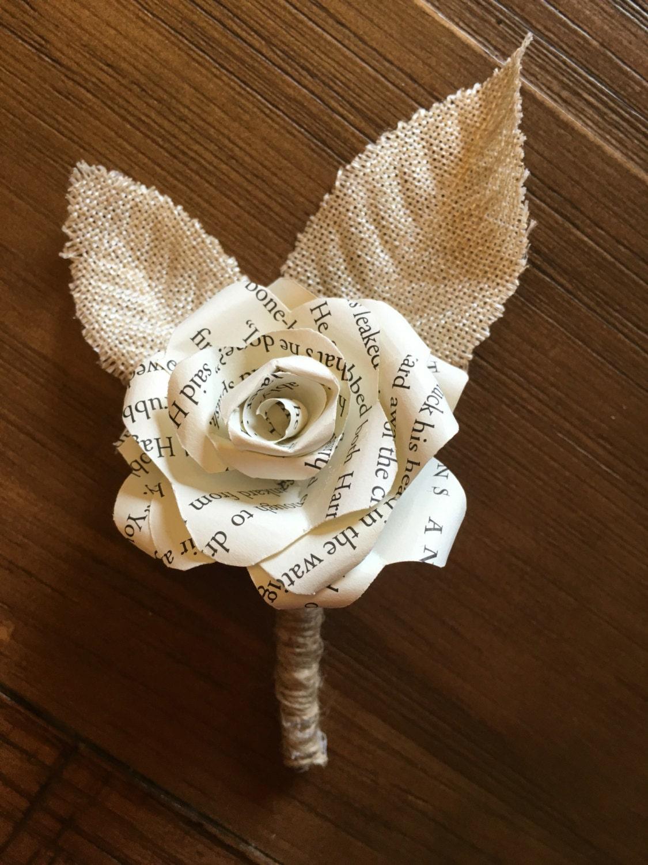 Harry Potter Paper Flower Boutonniere Harry Potter Corsage Etsy