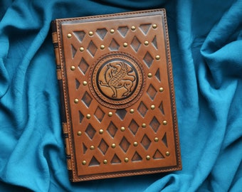 Grython leather a5 notebook cover Griffin leather hardcover journal Travellers notebook cover a5