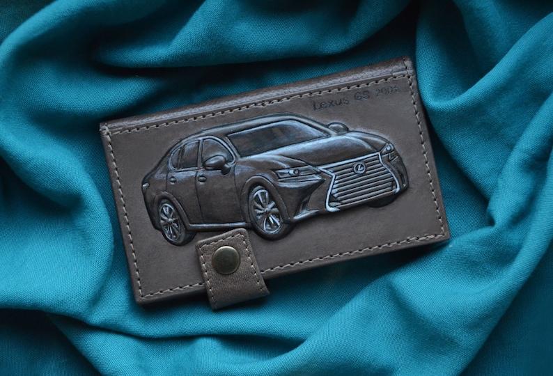 ececd6c738a3 Lexus Personalized mens leather wallet Engraved wallet Monogram wallet  Vintage wallet Business card holder Card case Wallets for men Gift