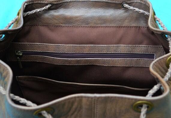 Viking Leder Rucksack Männer Celtic Leder Tote Tasche Laptop Rucksack Rucksack Mens Rucksack Reisetrucksack Ledersatchel Männer Geschenk