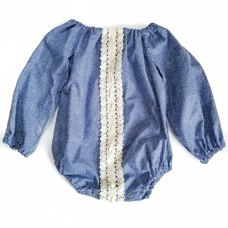 1af45f722 Elle Romper Long sleeve baby romper Navy blue romper fall