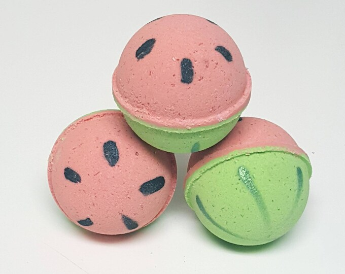 Handmade Bath Bombs, Fizzies - Watermelon Mania