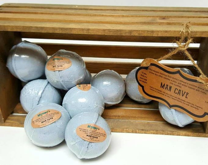 Handmade Bath Bombs, Fizzies - Man Cave, Unisex