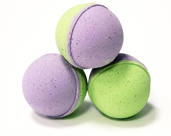 Handmade Bath Bombs, Fizzies - Olive Bergamot