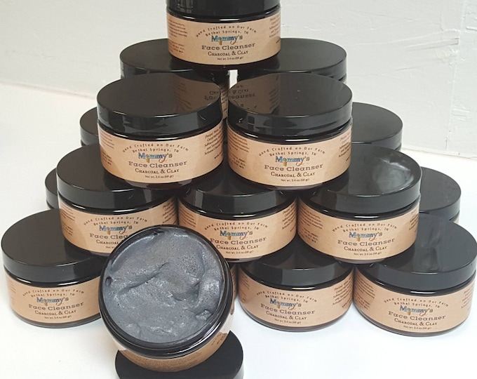 Handmade Facial Cleanser, Charcoal, Clay, Mud