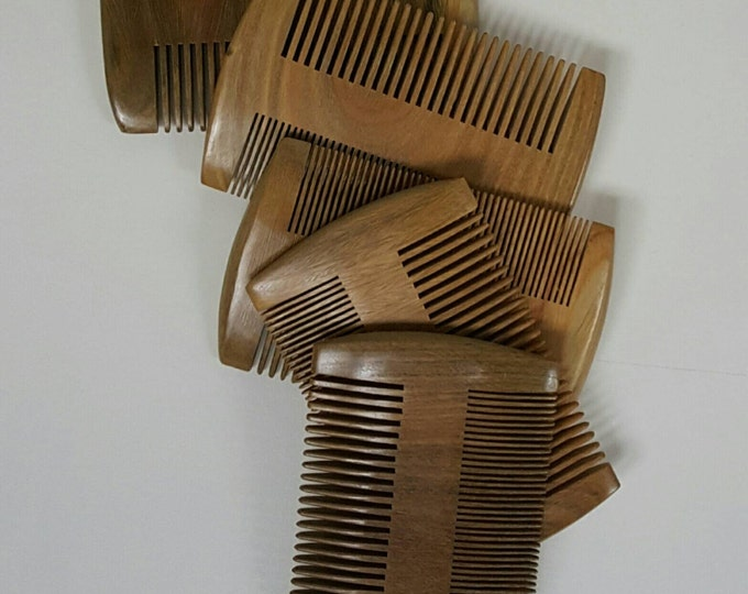 Beard Comb - Natural Sandalwood, Double-Sided