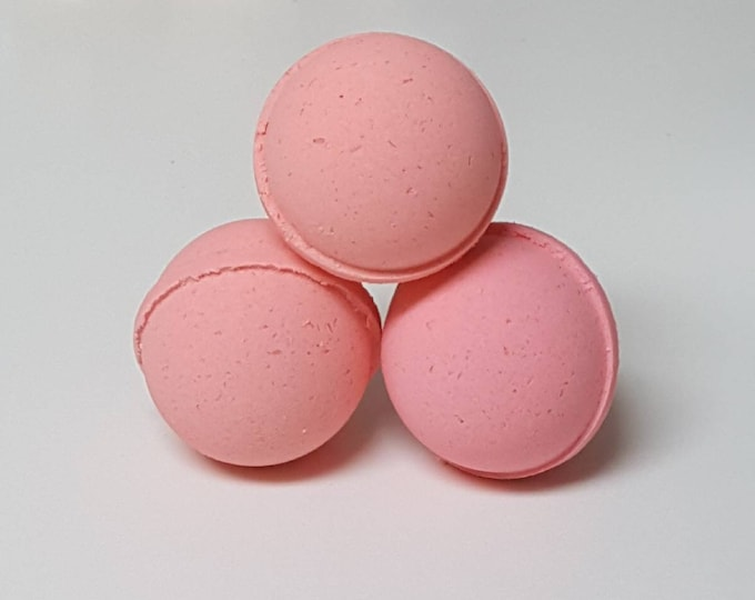 Handmade Bath Bombs, Fizzies - Sugared Grapefruit