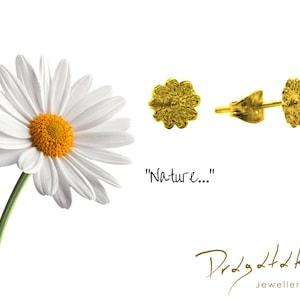 paio orecchini ORO BIANCO 18kt fiore MARGHERITA white gold 18kt flower daisy