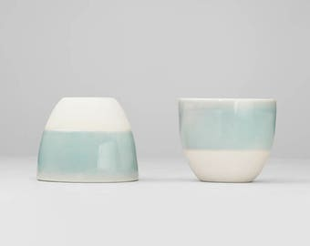 espresso cups, Turquoise mugs, wedding gift, ceramic tea cup, simple cup, stoneware, ceramic, porcelain, Coffee cup, Tea cup, mug, cupful