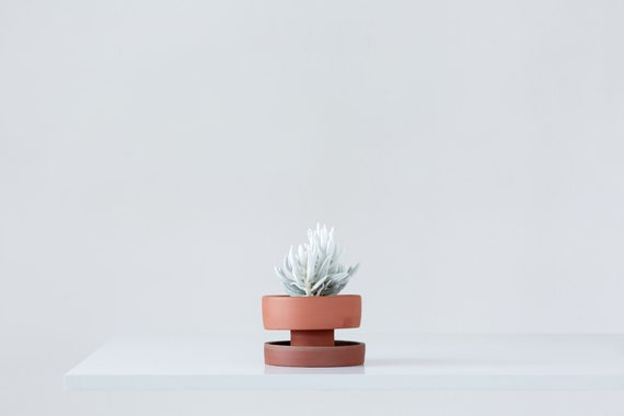 Etsy & ceramic flower pot red clay planter wabi sabi plant pot minimal indoor planter plant pot gift for her