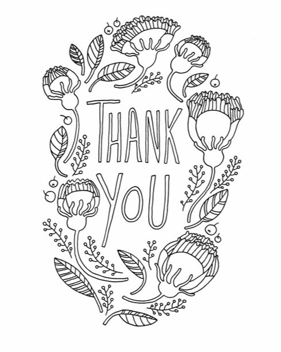 Diy Thank You Card For Father S Day Adult Coloring Page Etsy