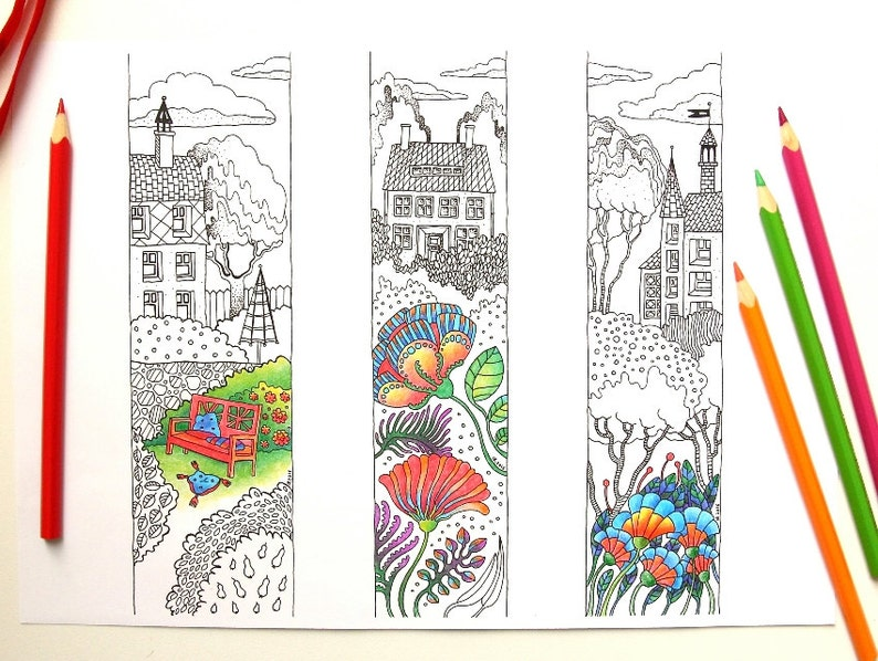 photograph about Printable Bookmarks Pdf identified as Printable Bookmarks toward Colour; Lineart, Coloring Bookmarks, PDF toward down load, print and shade, Handdrawn Coloring, Do it yourself Reward, Do-it-yourself Bookmarks
