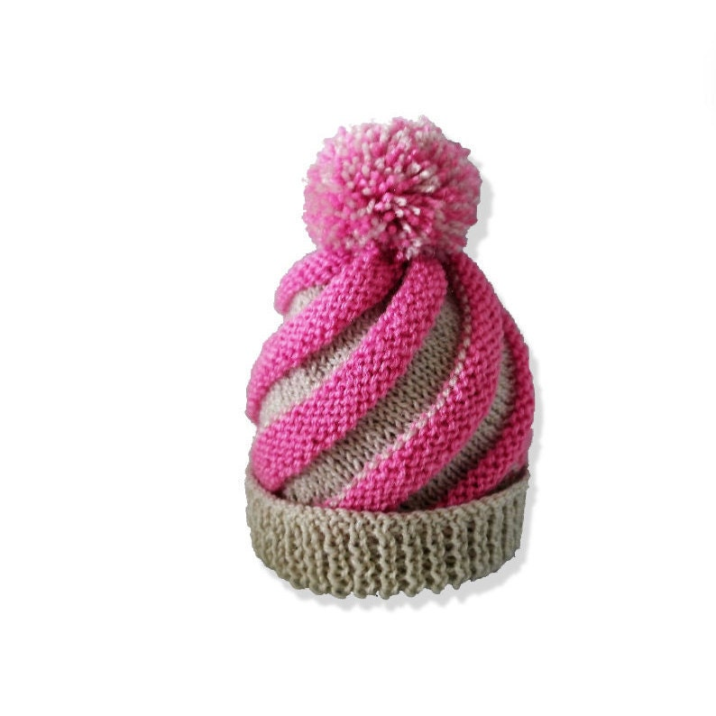 Baby swirl hat, Knitting pattern, Instant download