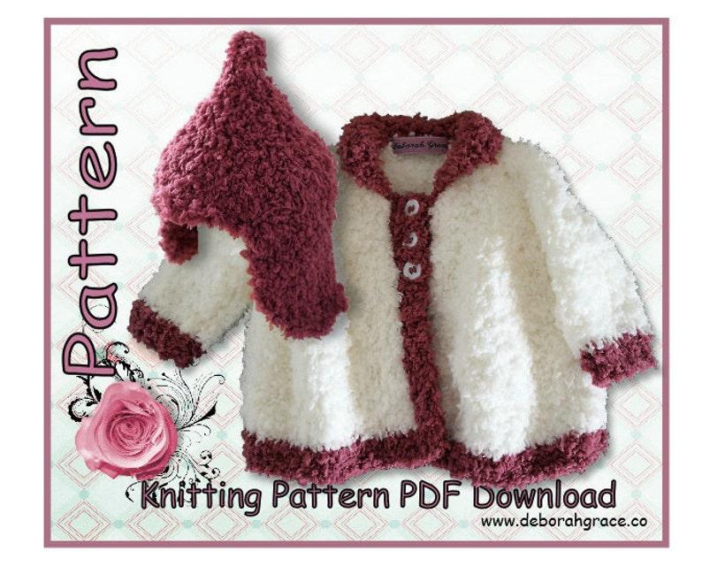 170445ab3 Baby jersey Hat knitting pattern Baby girls knitting