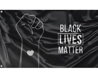 Black Lives Matter Flag IX Unique Print 3x5 Ft  90x150 cm size EU Made