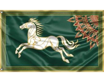 Rohan Horse Flag | Unique Design Print | Hiqh Quality Materials | Size - 3x5 Ft / 90x150 cm | Made in EU