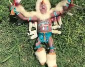 Eagle Dancer, Vintage Eagle Dancer Kachina Doll, Eagle Dancer Figure, Wooden Sculpture, Collectible Decor, Display