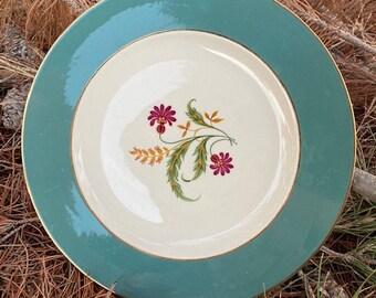 Ceramic Platter Canterbury Pattern Cavalier Eggshell Platter by Homer Laughlin Made in USA