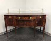 HICKORY CHAIR Inlaid Flame Mahogany Hepplewhite Sideboard