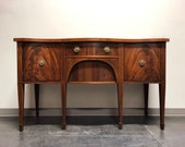 Newly Refinished HENREDON Folio Fourteen Hepplewhite Inlaid Mahogany Sideboard